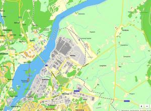 Karta över Ekholms omgivningar